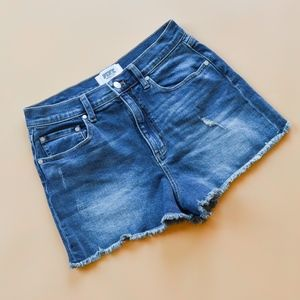 PINK Victoria's Secret Raw Hem Jean Shorts